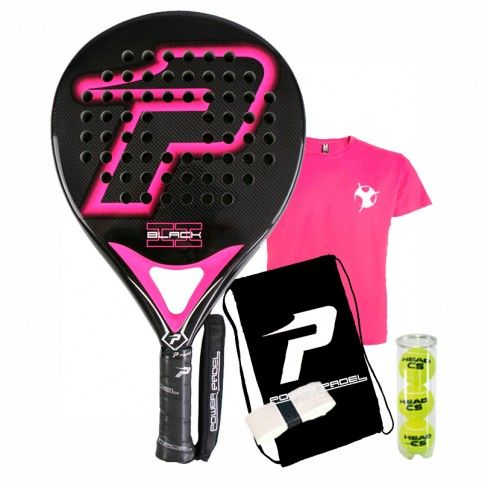 Power Padel -Power paddel Black Gloss Fuchsia 2018