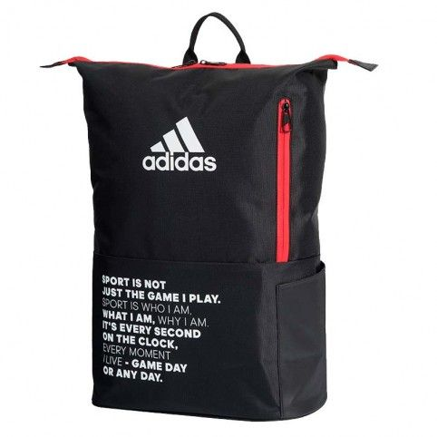 Adidas -Mochila Adidas Multigame 2.0 Negro/Rojo