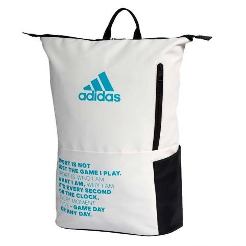 Adidas -Mochila Adidas Multigame 2.0 Blanco/Azul