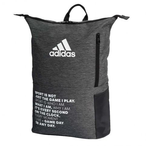 Adidas -Mochila Adidas Multigame 2.0 Gris/Negro