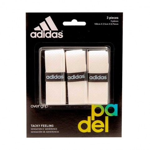 Adidas -Blister overgrips Adidas 3 uds Blanco