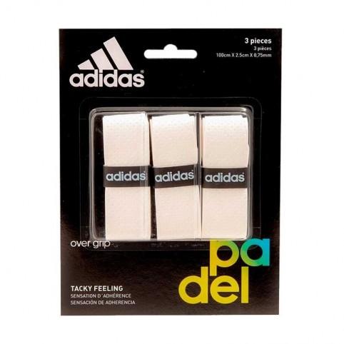 Adidas -Blister overgrips Adidas 3 units White