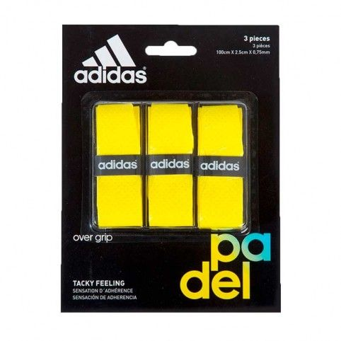 Adidas -Blister overgrips Adidas 3 uds Amarillo
