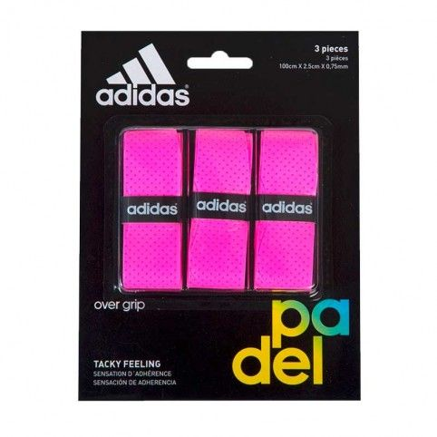 Adidas -Blister overgrips Adidas 3 uds Rosa