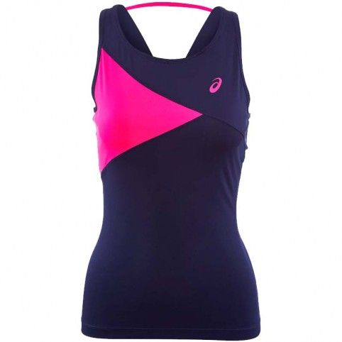 Asics -Camiseta Asics Club Tank Gris/Rosa