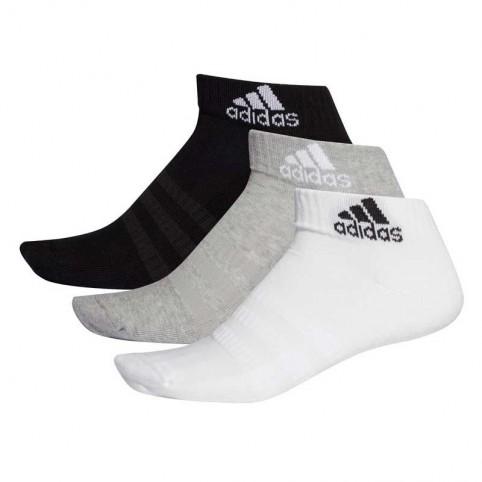 Adidas -Pack 3 Calcetines Adidas Cush Cortos Blanco/Gris/Negro