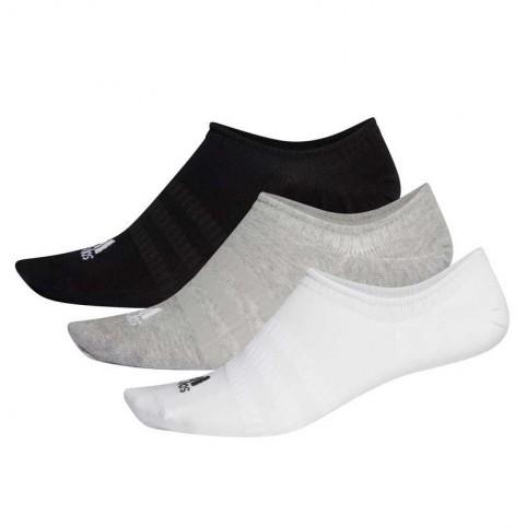 Adidas -Pack 3 Calcetines Adidas Light Nosh Blanco/Gris/Negro