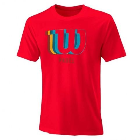 -T-shirt rossa Wilson Blur 2021