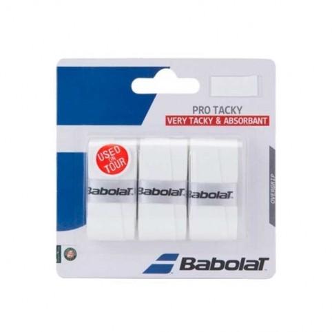 Babolat -Blister Overgrips Protacky blanco