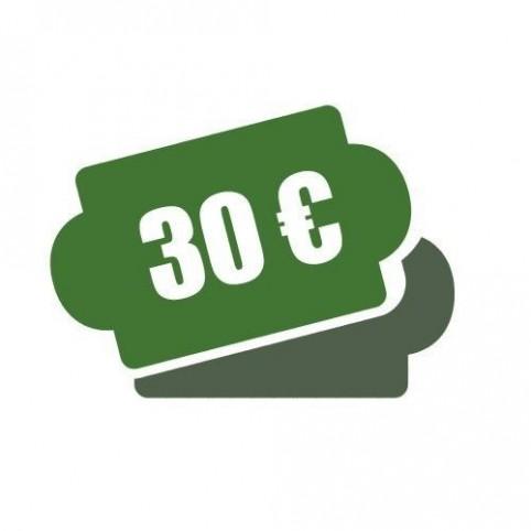 -Chèque cadeau 30 €