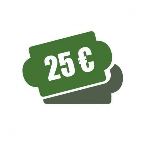 -Chèque cadeau 25 €